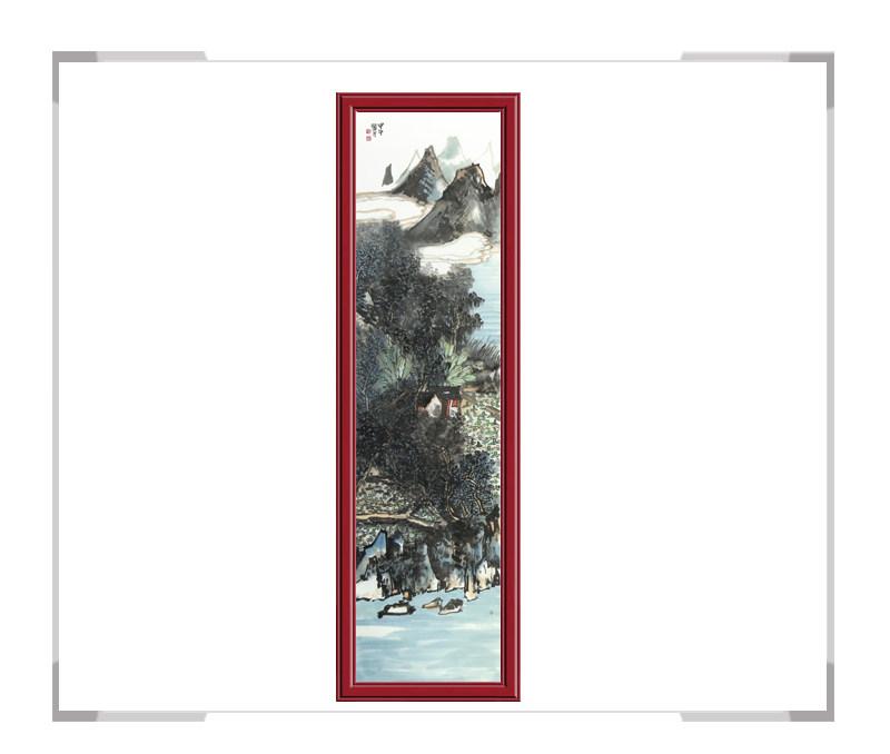 中国美术家协会会员张馨月-竖幅彩色山水画第一款