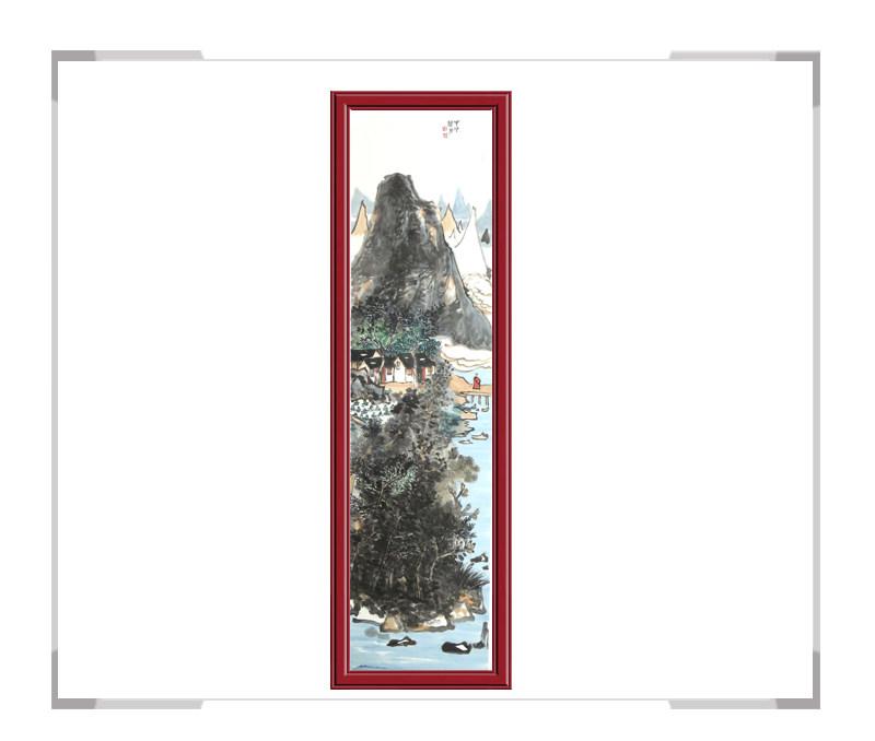 中国美术家协会会员张馨月-竖幅彩色山水画第二款