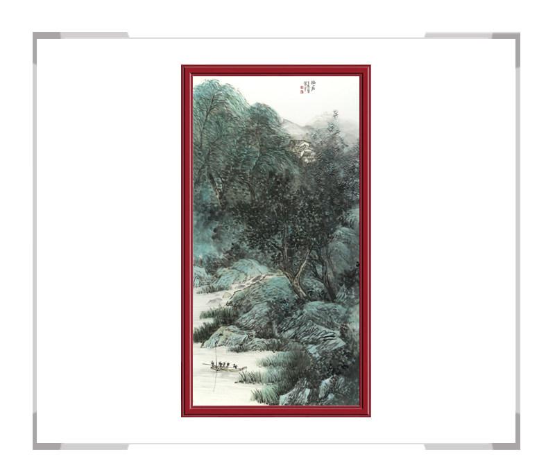 中国美术家协会会员张馨月-彩色山水画竖幅