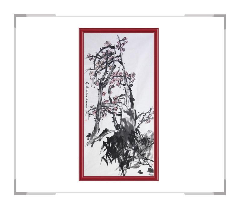 中国美术家协会会员张秀萍作品-竖幅花鸟画花卉二