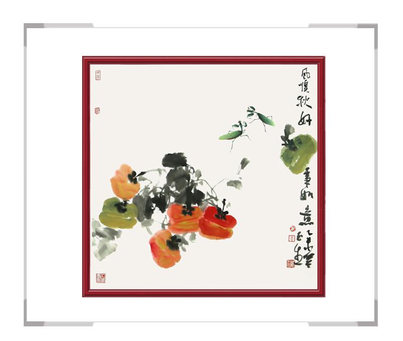 中国美术家协会会员张玉生-斗方花鸟画第一款