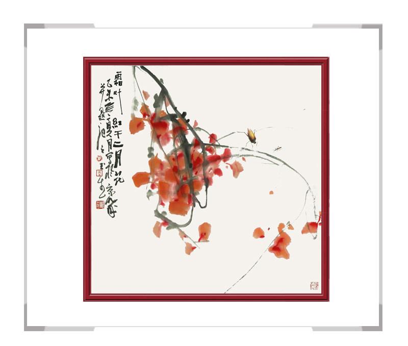 中国美术家协会会员张玉生-斗方花鸟画第二款