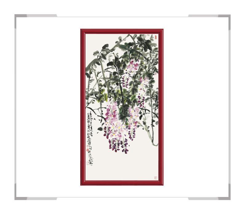 中国美术家协会会员张玉生-竖幅花鸟作品一