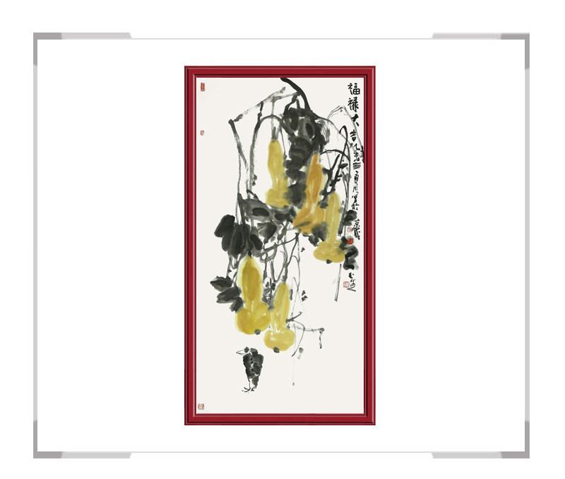 中国美术家协会会员张玉生-竖幅花鸟作品二
