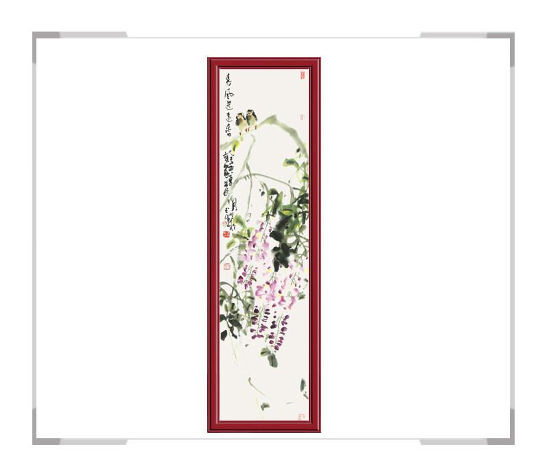 中国美术家协会会员张玉生老师-竖幅花鸟画第一款