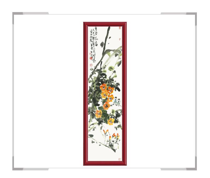 中国美术家协会会员张玉生老师-竖幅花鸟画第二款