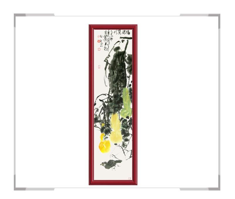 中国美术家协会会员张玉生老师作品-花鸟画竖幅第二款