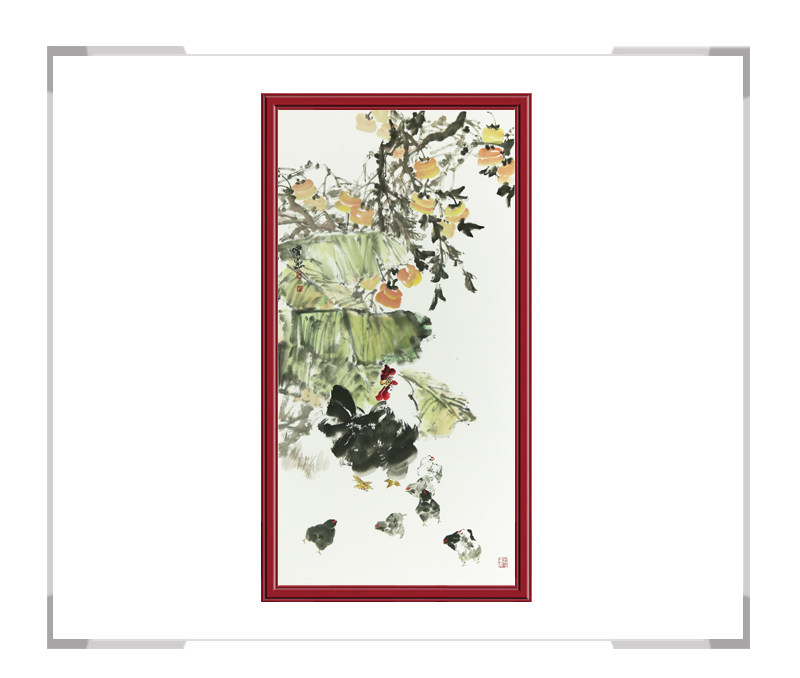 中国美术家协会会员张增丽老师-竖幅花鸟画作品一