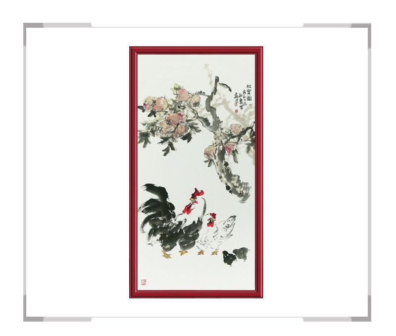 中国美术家协会会员张增丽老师-竖幅花鸟画作品二