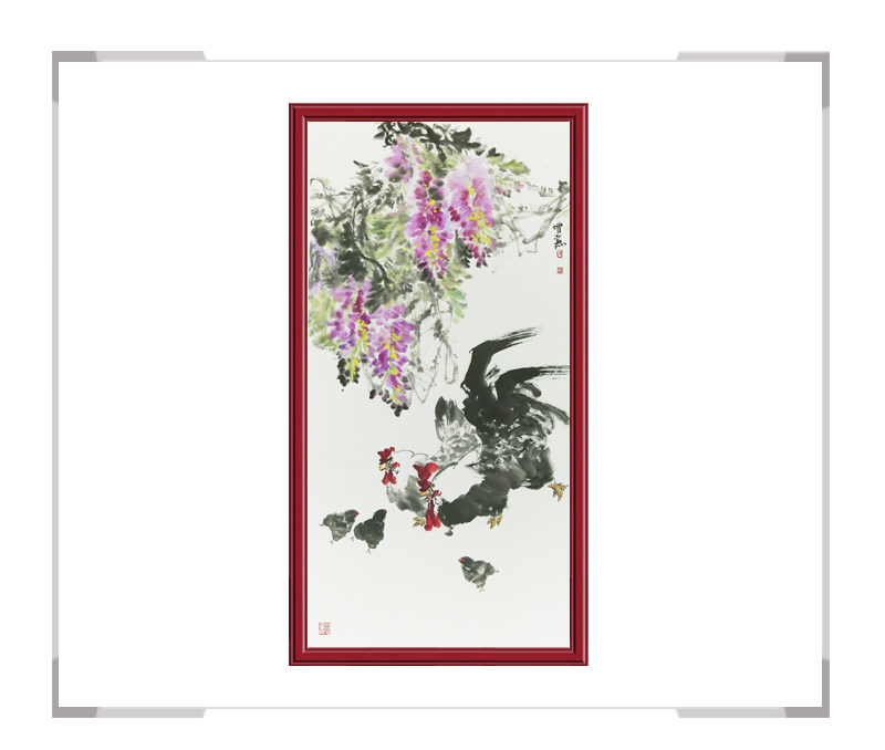 中国美术家协会会员张增丽-竖幅花鸟画