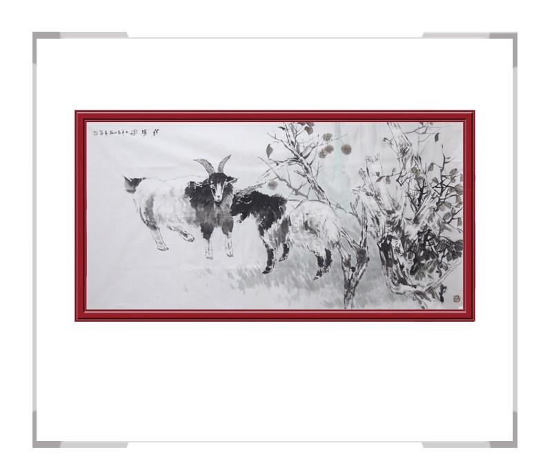 中国美术家协会会员张秀萍-横幅动物画