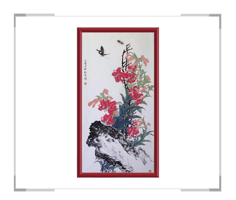 中国画家协会理事周同祥-竖幅花鸟画第二款