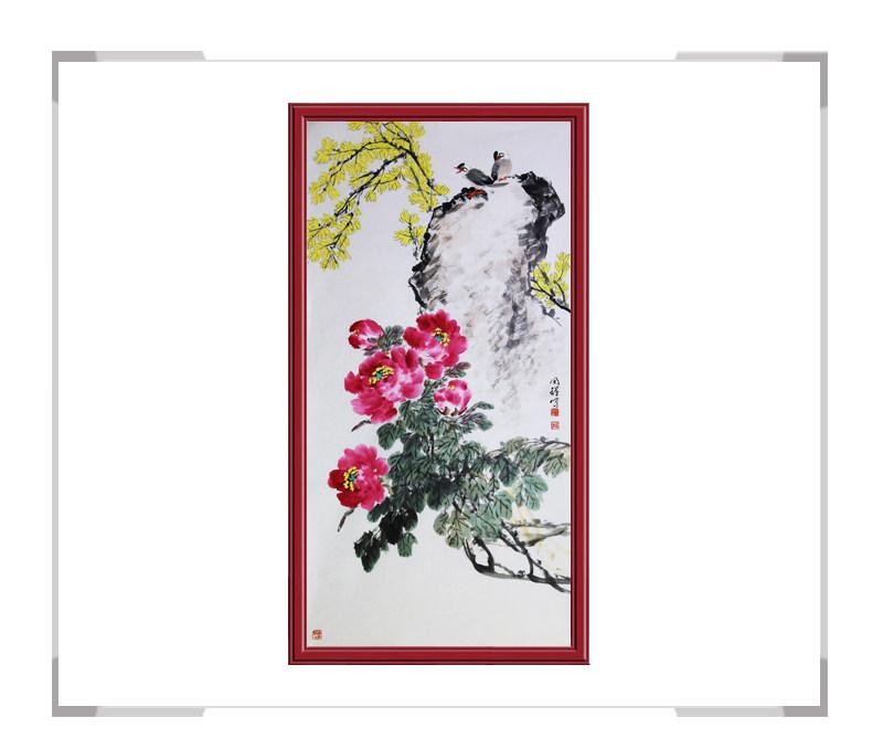 中国画家协会理事周同祥-竖幅花鸟画作品二