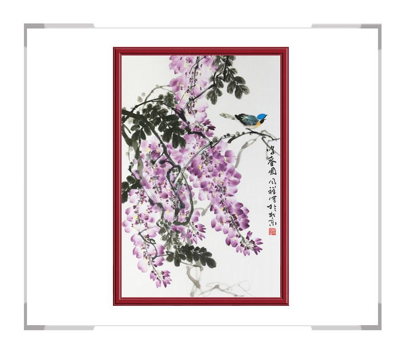 中国画家协会理事周同祥老师-竖幅花鸟作品一