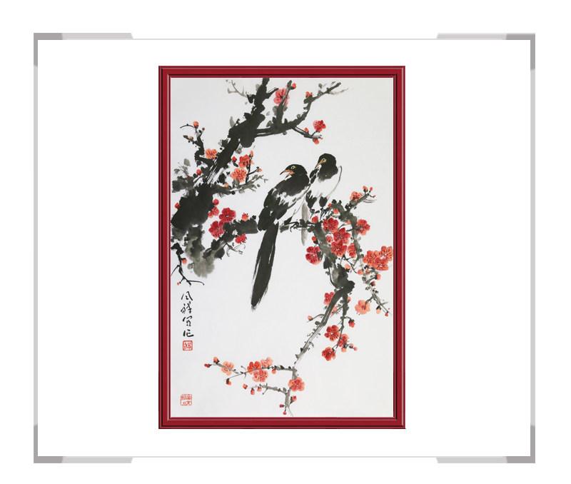 中国画家协会理事周同祥老师-竖幅花鸟作品二