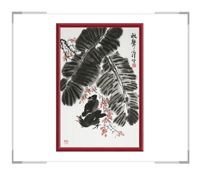 中国画家协会理事周同祥老师-花鸟作品画竖幅一