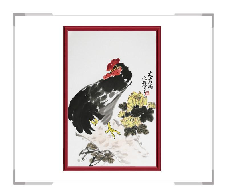 中国画家协会理事周同祥老师-花鸟作品画竖幅二