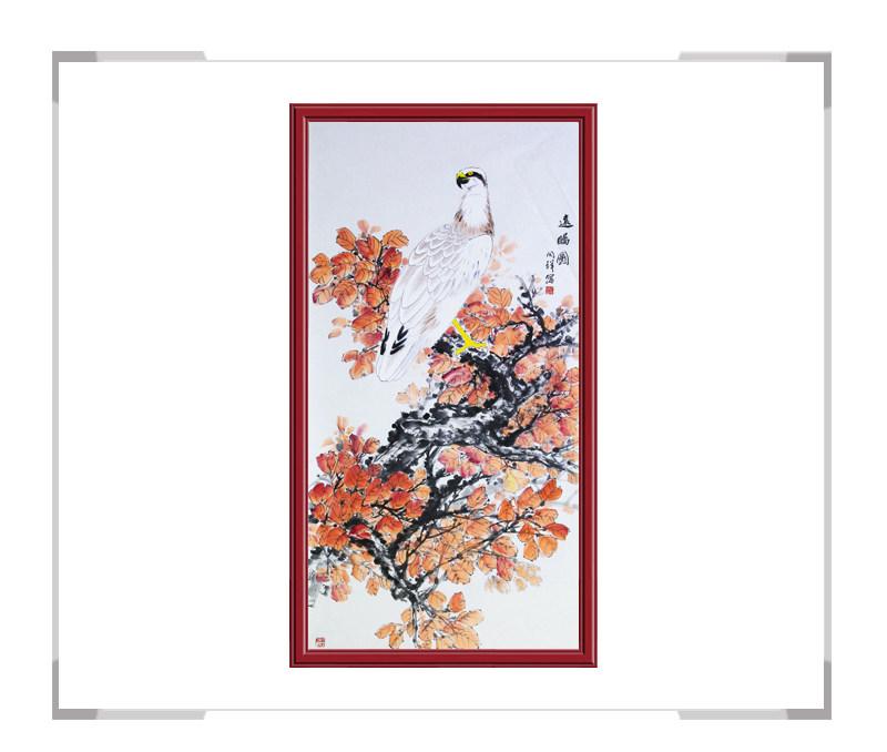 中国画家协会理事周同祥作品-花鸟作品画竖幅