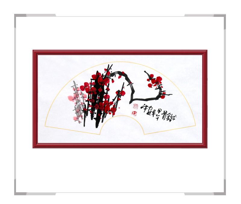 中国美术家协会会员朱安平-扇面花鸟画作品一