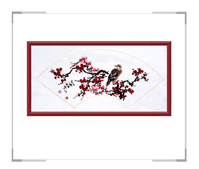中国美术家协会会员朱安平-扇面花鸟画作品二