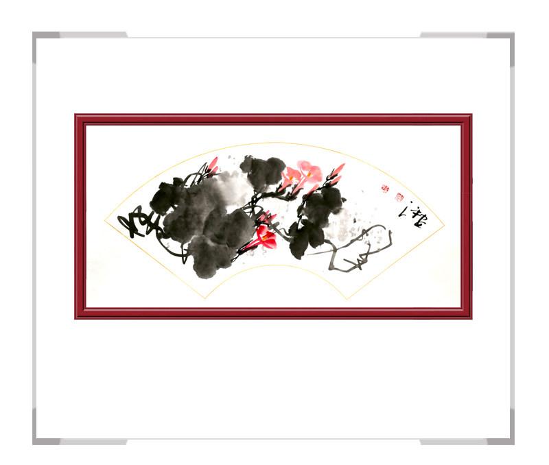中国美术家协会会员朱安平-扇面花鸟画作品三