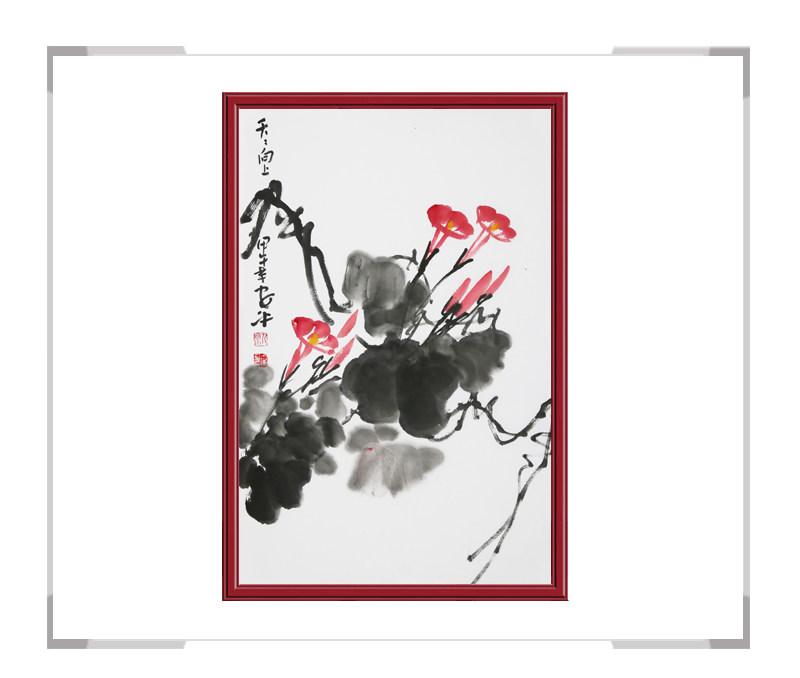 中国美术家协会会员朱安平-竖幅花鸟画作品一