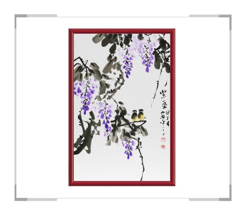 中国美术家协会会员朱安平-竖幅花鸟画作品二