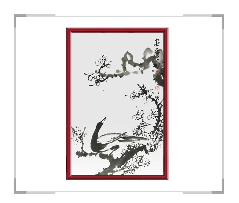 中国美术家协会会员朱安平老师作品-竖幅花鸟画