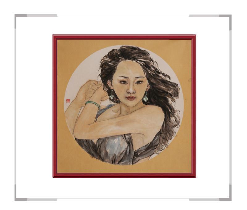 中国美术家协会会员葛琪-团扇美人画第三款