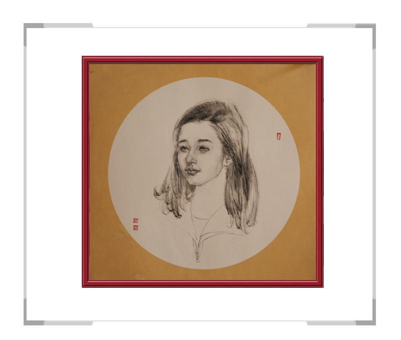 中国美术家协会会员葛琪-团扇美人作品三