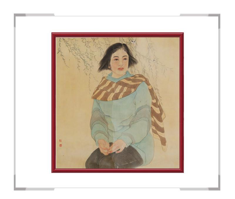 中国美术家协会会员葛琪-斗方美人画第二款