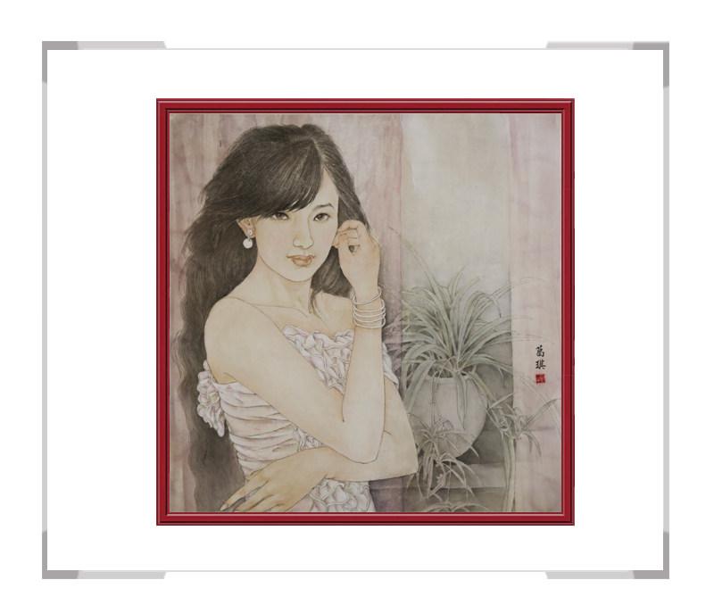 中国美术家协会会员葛琪-斗方美人画第三款