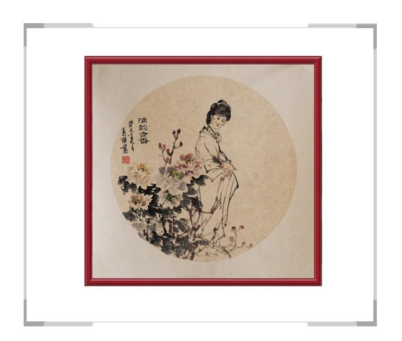 中国美术家协会会员葛琪-团扇古典美人画第三款
