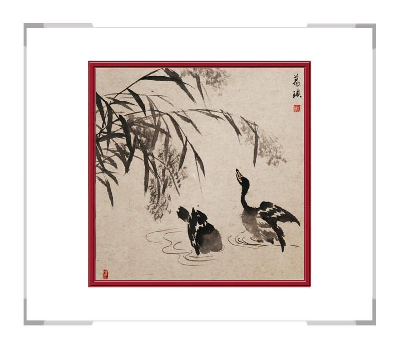中国美术家协会会员葛琪作品-斗方花鸟画三