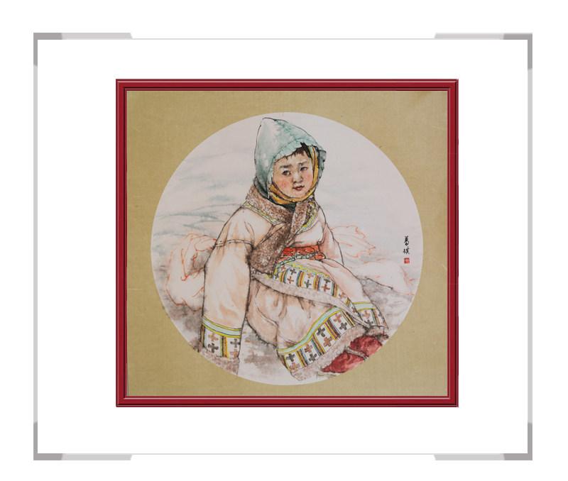 中国美术家协会会员葛琪-团扇人物画之少数民族二