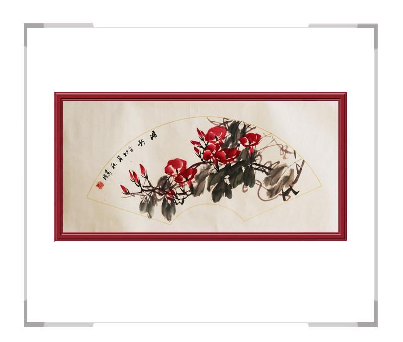 中国美术家协会会员葛琪作品-扇面花鸟画第一款