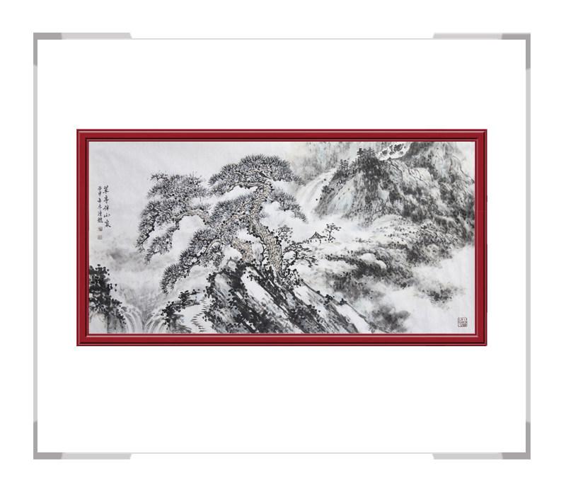 中国美术家协会会员季清龙-横幅山水画第二款
