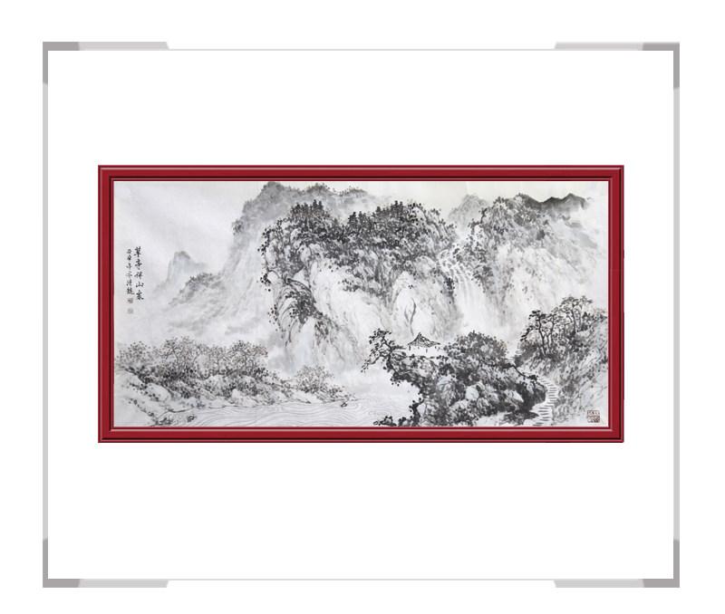 中国美术家协会会员季清龙-横幅山水画第三款