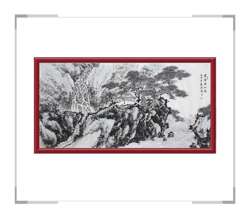 中国美术家协会会员画家季清龙-横幅山水画第二款