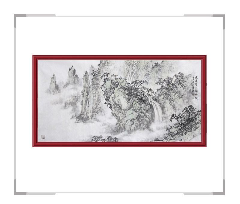 中国美术家协会会员画家季清龙-横幅山水作品一
