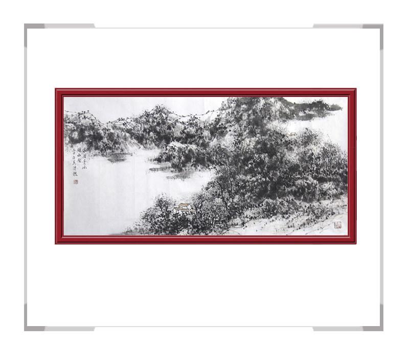 中国美术家协会会员画家季清龙-横幅山水作品二