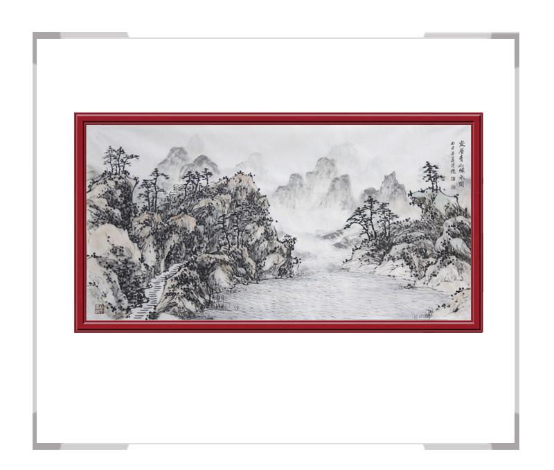 中国美术家协会会员画家季清龙-横幅山水作品三