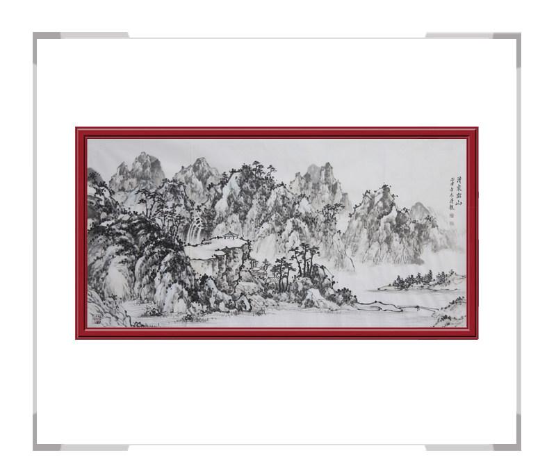 中国美术家协会会员画家季清龙作品-横幅山水画一