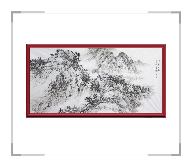 中国美术家协会会员画家季清龙作品-横幅山水画二