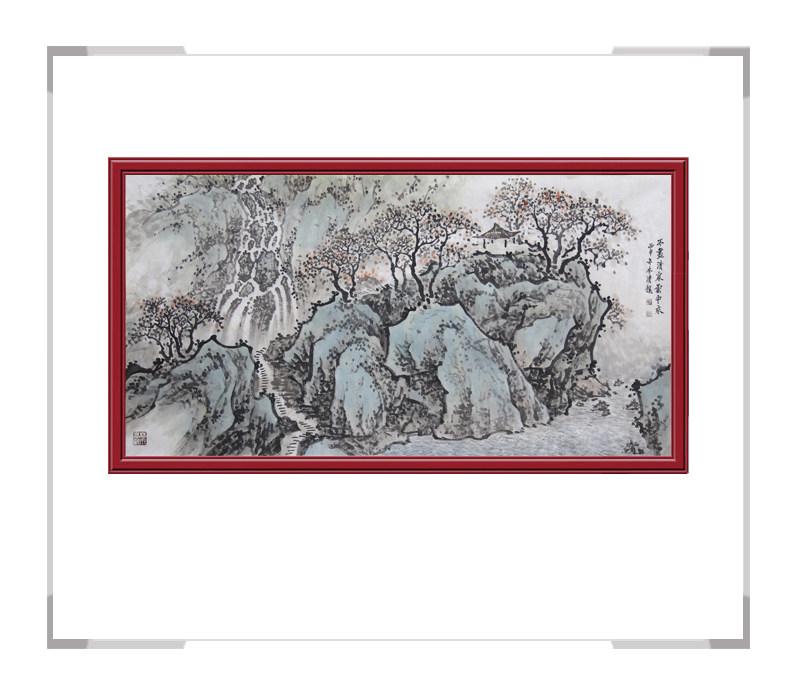 中国美术家协会会员画家季清龙老师-横幅山水画二