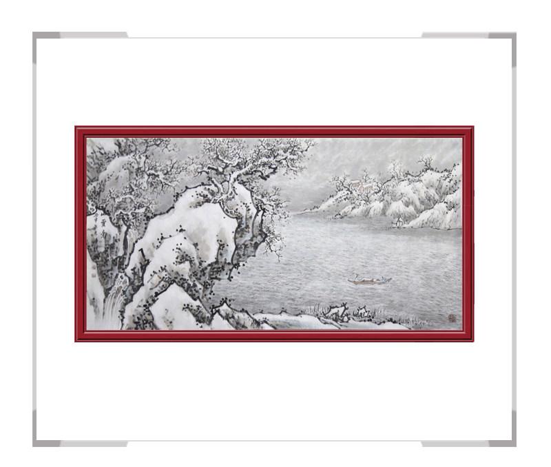 中国美协会员季清龙作品-横幅山水画第二款
