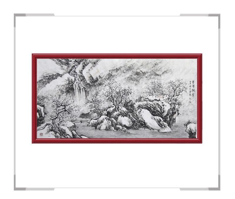 中国美协会员季清龙-横幅山水画作品一