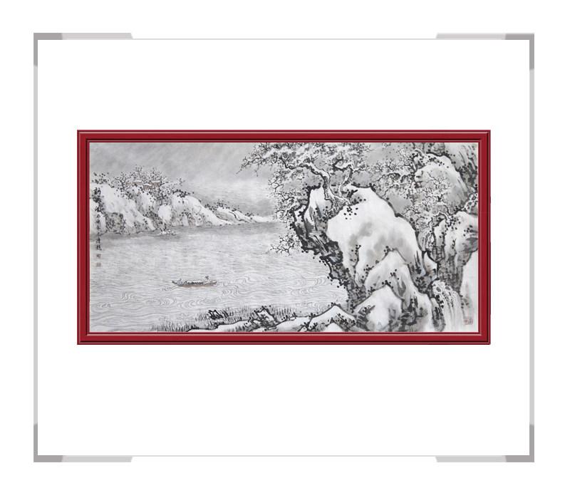 中国美协会员季清龙-横幅山水画作品二