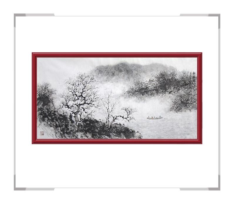 中国美协会员季清龙-横幅山水画作品三