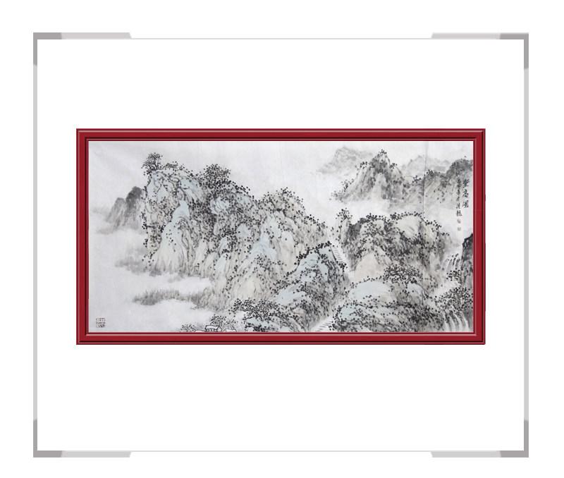 中国美协会员季清龙老师-横幅山水画作品一